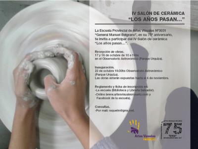 """IV Salón de Cerámica """"LOS AÑOS PASAN…"""""""