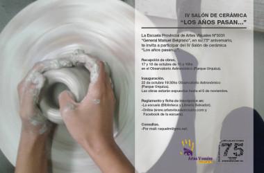 """IV Salón de Cerámica """"Los Años Pasan…"""". <br/> Abierta la inscripción"""