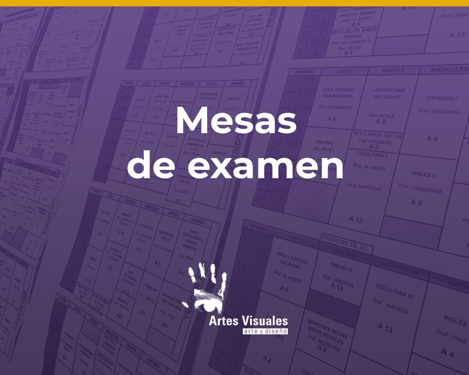 Mesas de examen finales julio-agosto 2021